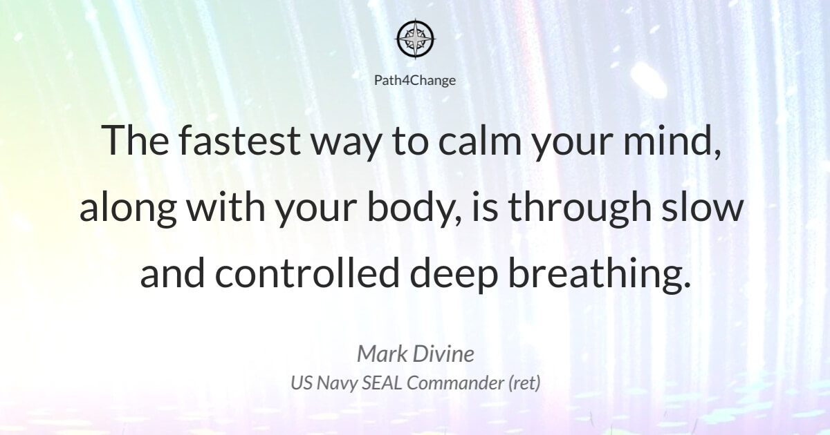 Quote from Mark Divine Navy SEAL