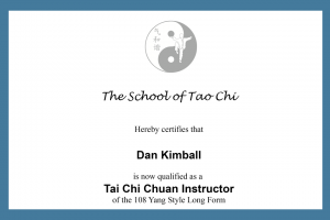Certified Tai Chi Instructor
